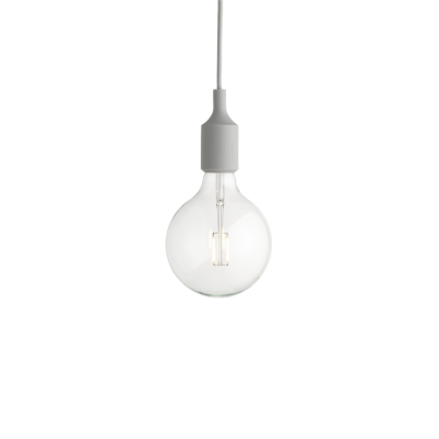 E27 LAMPE LIGHT GREY-LED