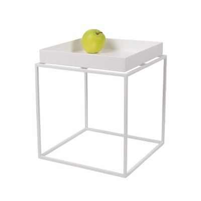 HAY TRAY TABLE SMALL SQUARE BLANC 30X30X34
