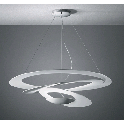 SUSPENSION PIRCE ARTEMIDE BLANC LED
