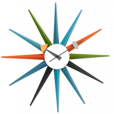 HORLOGE SUNBURST - MULTICOLORE