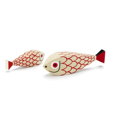 FIGURINE EN BOIS MOTHER FISH - CHILD