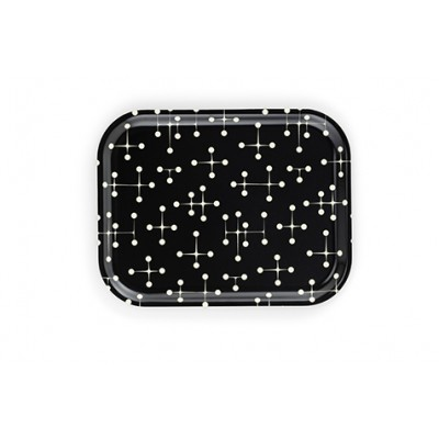 CLASSIC TRAY MEDIUM-DOT PATTERN REVERSE BLACK