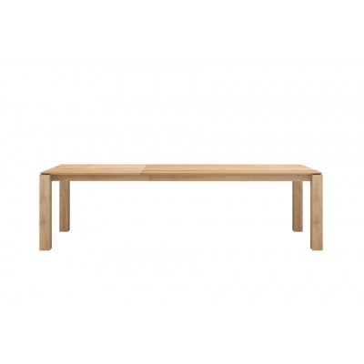 TABLE CHENE SLICE EXTENSIBLE 180-280X100
