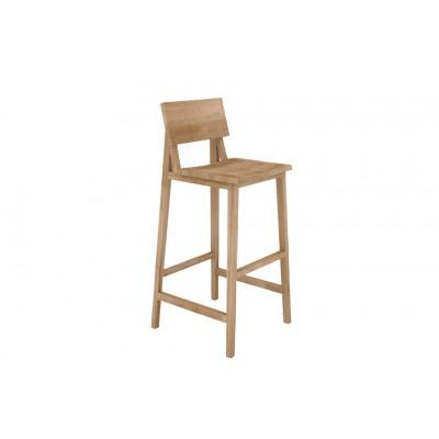 Oak N4 bar stool