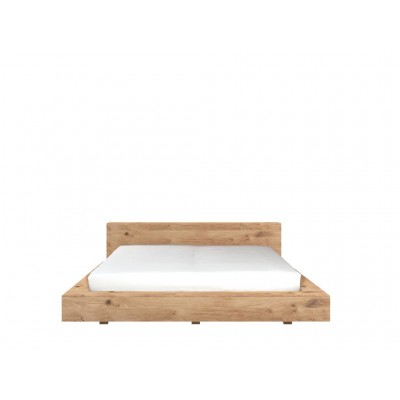 Oak Madra bed - without slats - mattress size 160x200