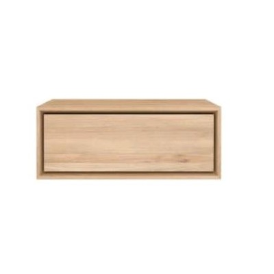 Oak Nordic II bedside table - 1 drawer - hanging