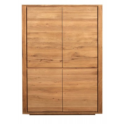 Oak Shadow storage cupboard - 4 doors