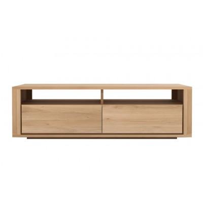 Oak Shadow TV cupboard - 2 drawers