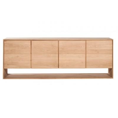 Oak Nordic sideboard - 4 doors