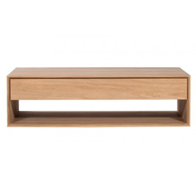 Oak Nordic coffee table - 1 drawer