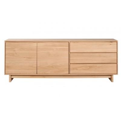 Oak Wave sideboard - 2 doors - 3 drawers