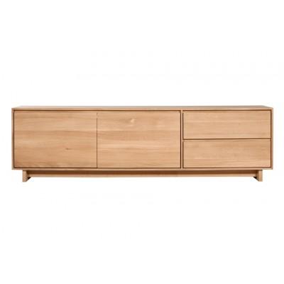 Oak Wave TV cupboard - 2 doors - 1 flip-down door - 1 drawer