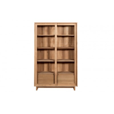 Oak Wave storage cupboard - 2 sliding doors - 2 inside...