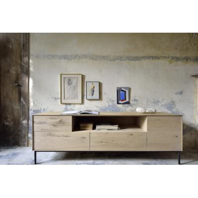 Oak Whitebird TV cupboard - 1 door - 1 flip-down door - 2...