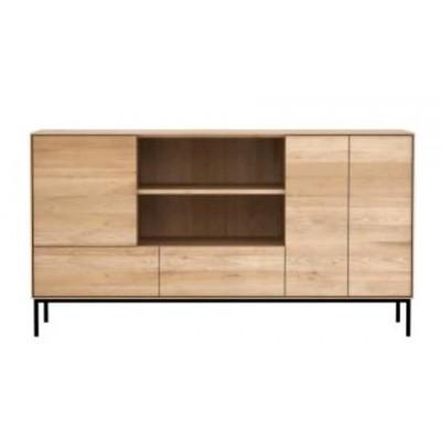 Oak Whitebird sideboard - 3 doors - 2 drawers - varnished