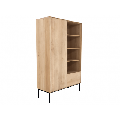 Oak Whitebird storage cupboard - 1 door - 1 drawer -...