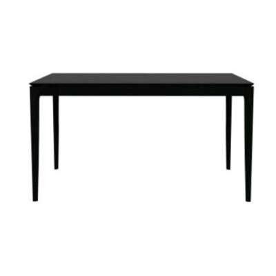 Oak Bok black dining table - varnished 160 cm