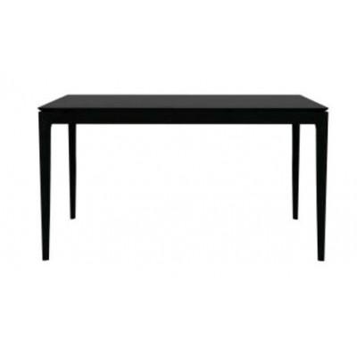 TABLE BOK EN CHENE BLACK 160X80X76