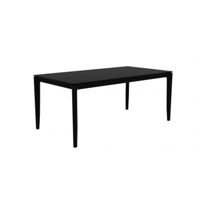 Oak Bok black dining table - varnished 180 cm