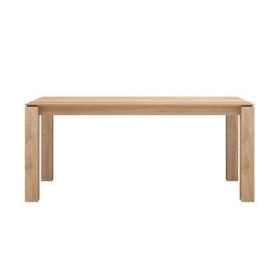 Oak Slice extendable dining table - legs 8 x 8 cm