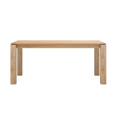 TABLE CHENE SLICE EXTENSIBLE 140-220X90X76