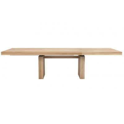 TABLE CHENE DOUBLE EXTENSIBLE 200-300X100