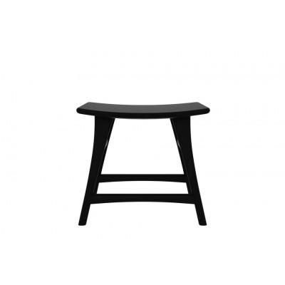 Oak Osso black stool - varnished
