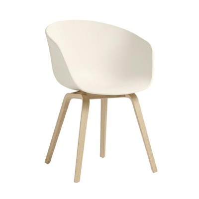 CHAISE AAC22  OAK MATT LACQUER CREAM WHITE