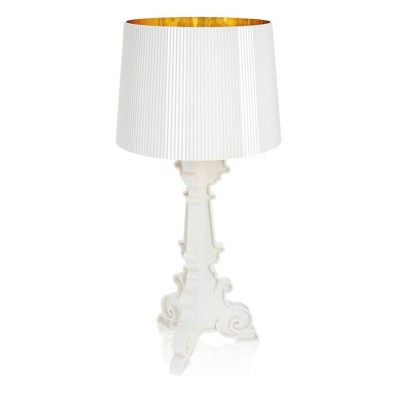 LAMPE BOURGIE BLANC OR