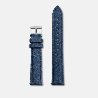 Minuit Bracelet Strap bluejeans/Silver