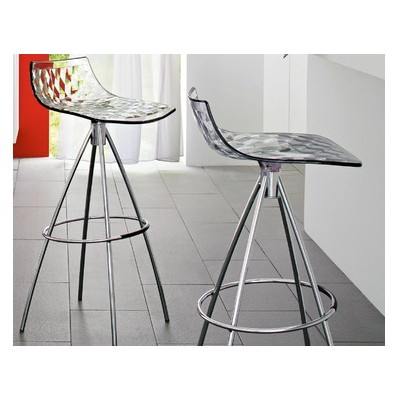 TABOURET ICE TRANSPARENT HA 65 CM