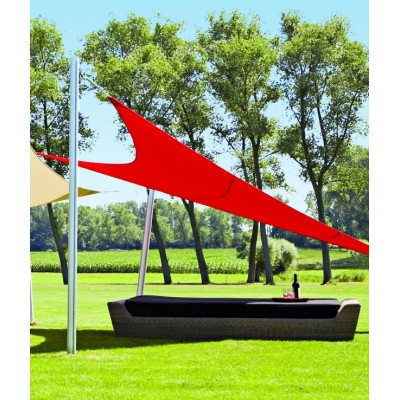 VOILE TRIANGULAIRE 4X5X6.4 M ROUGE