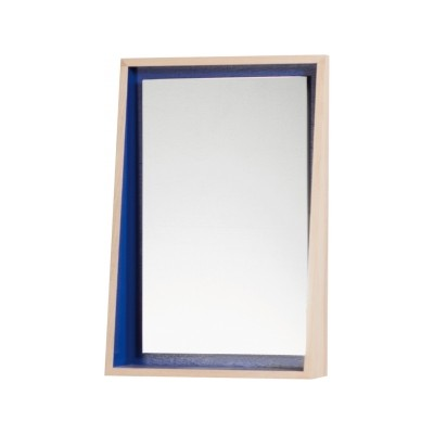 MIROIR FLOAT AVEC TABLETTE  CHENE NATUREL MAT
