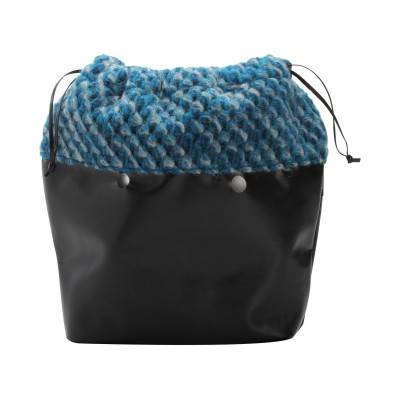 O'BAG MINI INNER BAG WOOL BLUE WHITH STRINGS