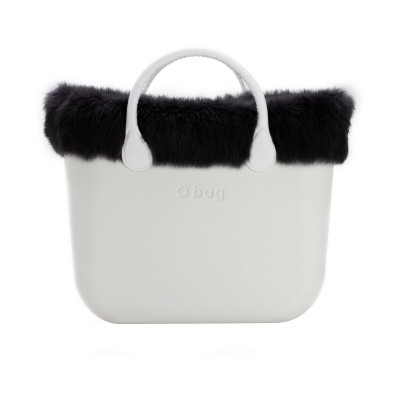 O' BAG MINI TRIM FAUSSE FOURRURE BLACK