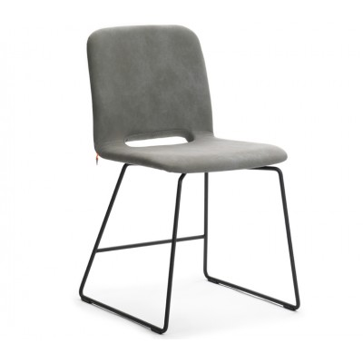 CHAISE PAMP FIXE H 47 TISSU 2 PIEDS METAL