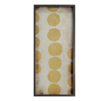 SIENNA DOTS - GLASS TRAY 69X31X5CM