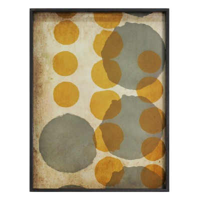 SIENNA LAYERED DOTS - GLASS TRAY 61X46X5CM