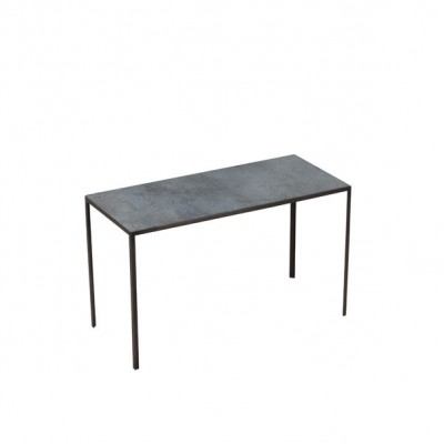 TABLE D APPOINT MEDIUM CHARCOAL PATCHWORK SIDE 69X31X41