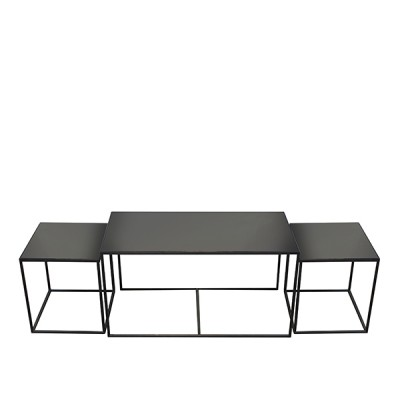 CHARCOAL MIRROR - NESTING COFFEE TABLE -...