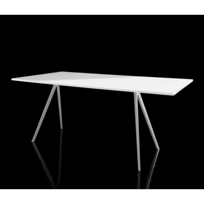 TABLE BAGUETTE BLANC 205X85 CM