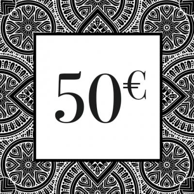 CHEQUE-CADEAU 50€