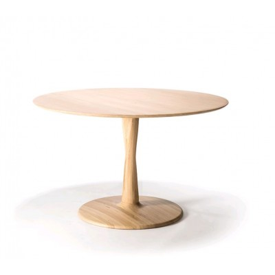 Oak Torsion dining table - varnished