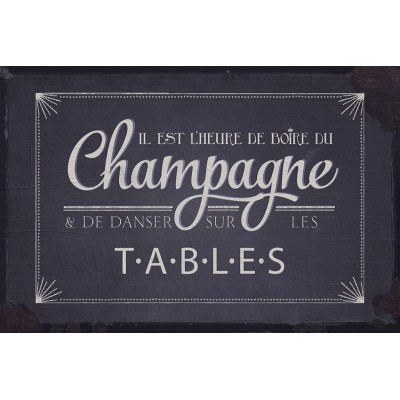 PLAQUE METAL CHAMPAGNE