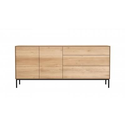 Oak Whitebird sideboard - 2 doors - 3 drawers - varnished