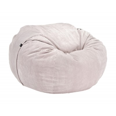 Pouf Large Cord Velours platinum