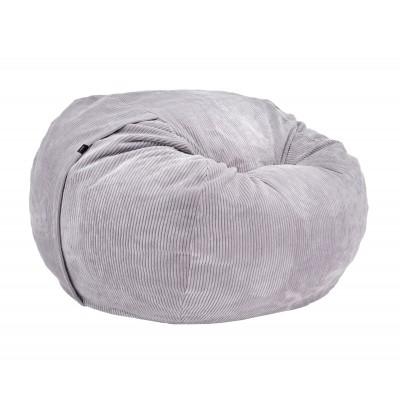 Pouf Large Cord Velours gris clair