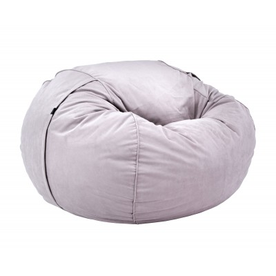 Pouf Large Velvet light grey