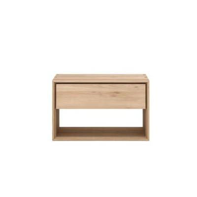 Oak Nordic II bedside table - 1 drawer