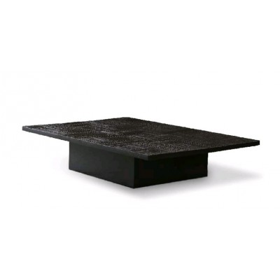 Teak Tabwa Blok black coffee table - varnished